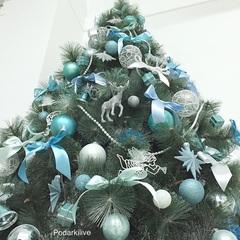 Оформление елки от 2 до 3 метров игрушками заказчика