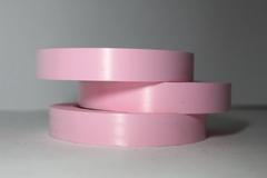 Лента простая (2см*50м) Гладкая без тиснения Ярко-розовая