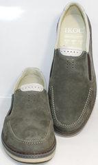 Туфли на плоской подошве мужские IKOC 3394-3 Gray.