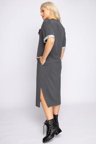 """<p>Платье в стиле casual - прекрасное решение для повседневной жизни. В этом платье вы будете выглядеть на высшем уровне, но и чувствовать себя комфортно. (Длины: 44-110см; 46-110см; 48-113см; 50-115см) <span>Элемент """"Брошь"""" в комплект не входит (можно приобрести в разделе """" Аксессуары"""").</span></p>"""