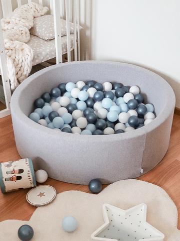 Сухой бассейн Anlipool 100/30см серый комплект №51 Blue pearls
