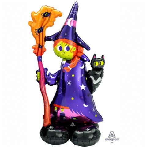Шар Ведьма с метлой