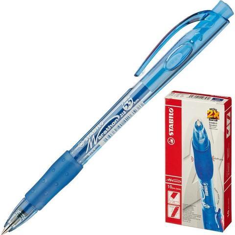 Ручка шариковая автоматическая Stabilo Marathon 318/41 синяя (толщина линии 0.3 мм)