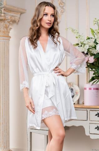 Халатик  женский шелковый Mia-Amore EVA ЕВА 8903