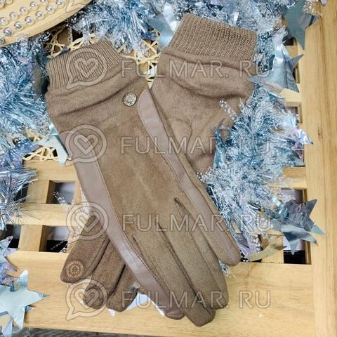 Женские перчатки Touch для сенсорных экранов на указательном пальце Классика (цвет: серый)