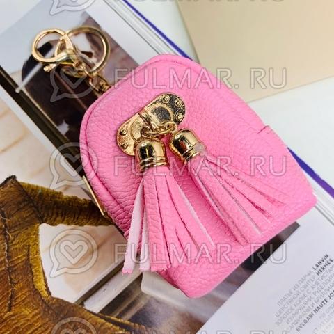 Брелок-мини кошелёк-ключница «Актриса» розовая