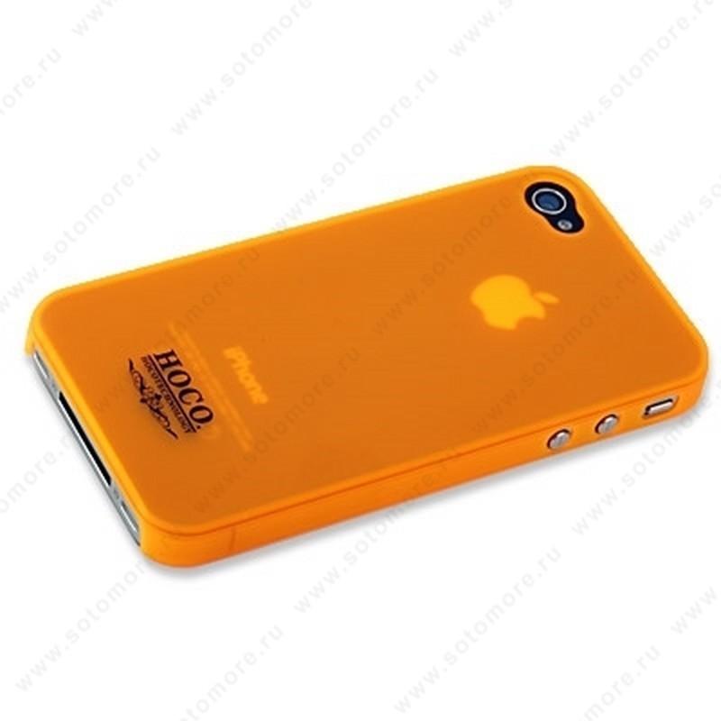 Накладка HOCO для iPhone 4 - HOCO Frosted Case Orange