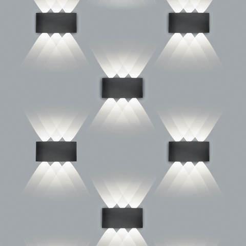 Декоративная светодиодная подсветка Feron DH101 BK 6*1Вт IP54 черный