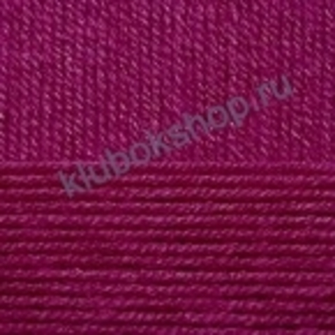 Пряжа Детская новинка (Пехорка) цвет 781 Ягодный