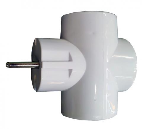 Тройник 3х2П 16А 250B белый TDM