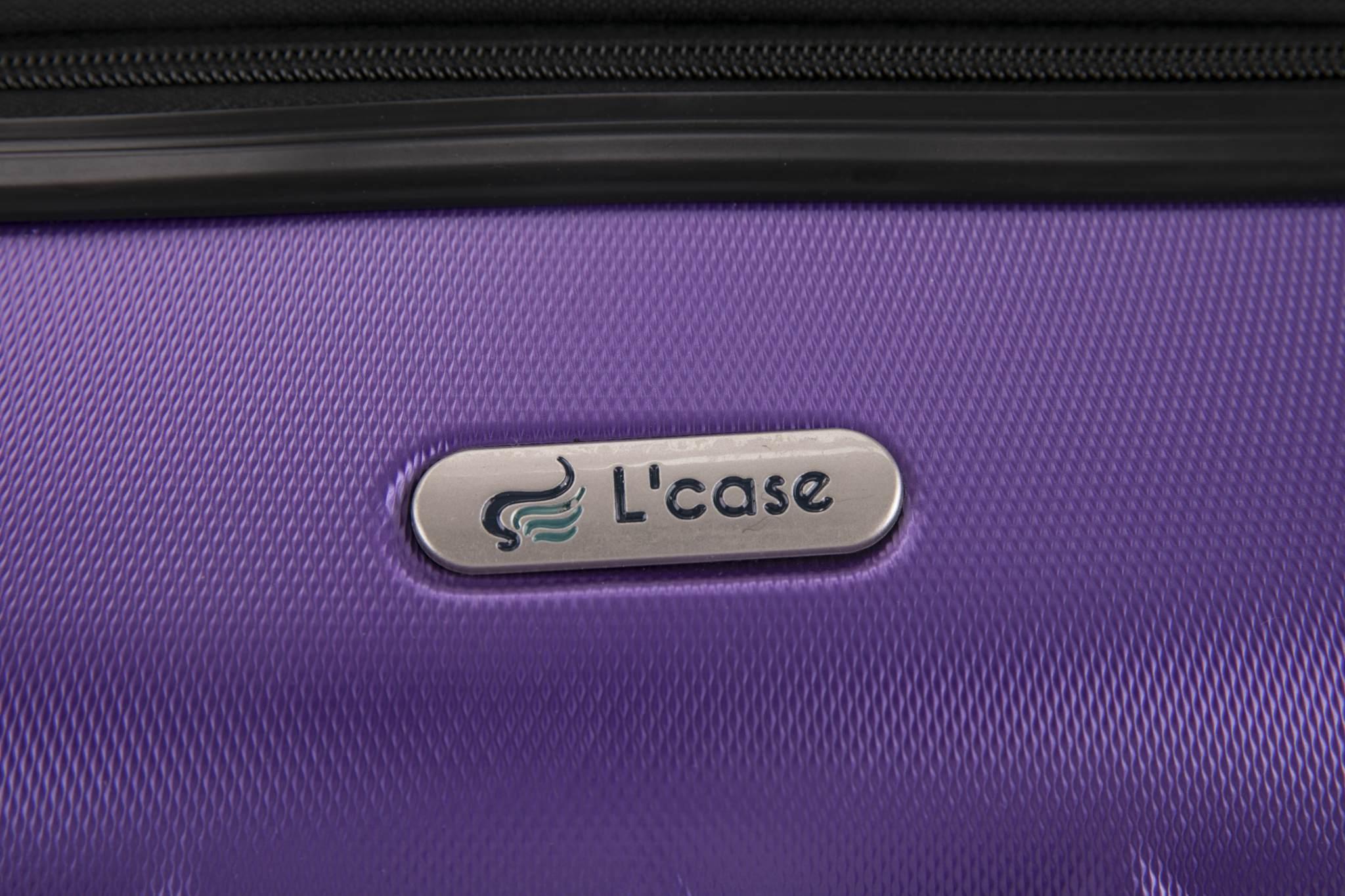 Чемодан с расширением L'case Phatthaya-24 Фиолетовый (M+)