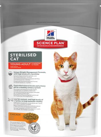 Hill's сухой корм для стерилизованных кошек до 6 лет 300 г