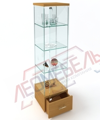 ВК-450-Н Витрина стеклянная с выкатным ящиком