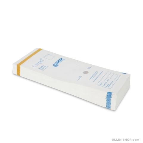 Крафт-пакеты белые 100*250 мм с индикатором (100 шт)
