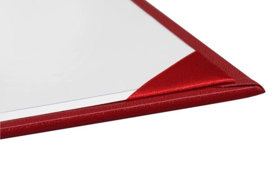 Переплетная обложка «Классик» для сертификата (Красная)