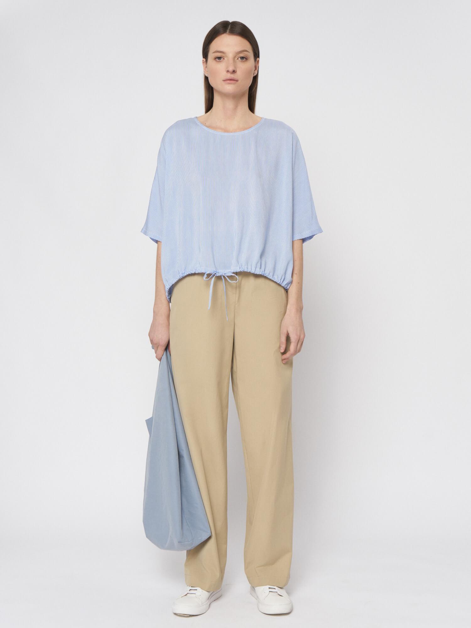 Блуза Melanie с кулисой, Голубой