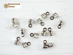 Концевики для шнуров с насечками стальные