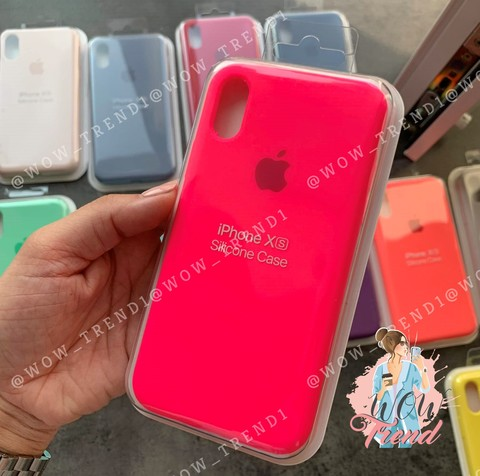 Чехол iPhone 6/6S Silicone Case Full /electric pink/ ярко-розовый