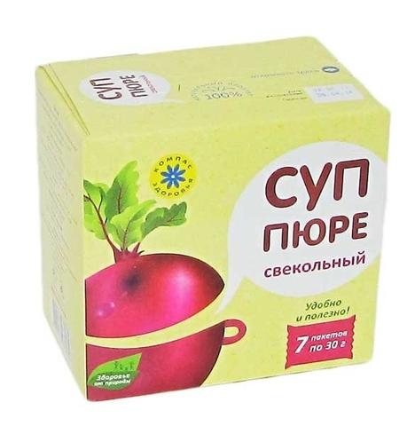 Суп-пюре СВЕКОЛЬНЫЙ 210 г (Компас здоровья)