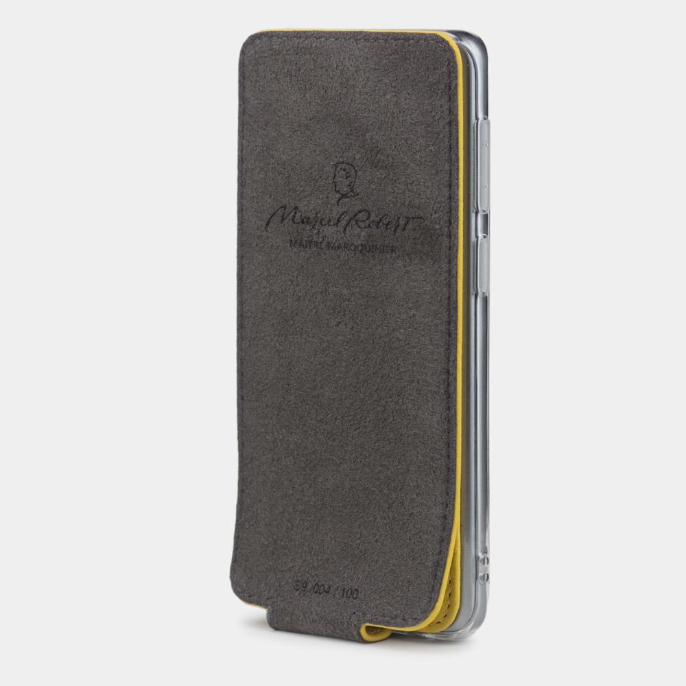 Чехол для Samsung Galaxy S9 из натуральной кожи теленка, желтого цвета