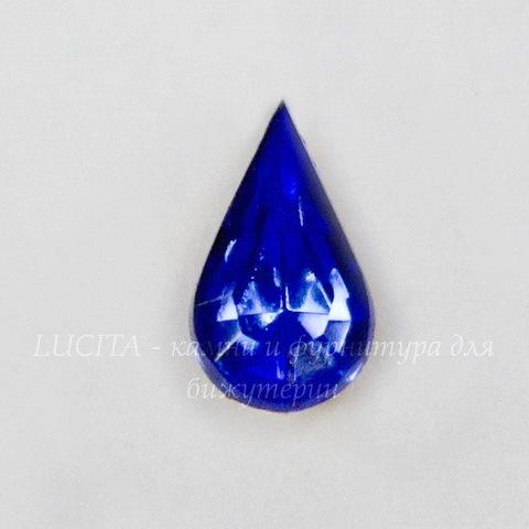 """Ювелирные стразы Preciosa """"Капля"""" Sapphire  (8х5 мм)"""