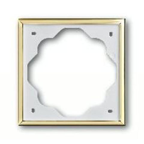 Рамка на 1 пост. Цвет Золото. ABB(АББ). Impuls(Импульс). 1754-0-4507