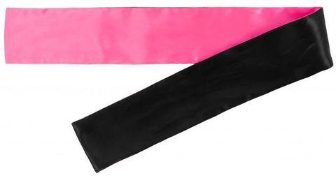 Набор из 5 черно-розовых атласных лент для связывания