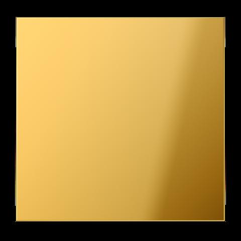 Выключатель одноклавишный. 10 A / 250 B ~. Цвет Имитация золота. JUNG LS. 501U+GO2990