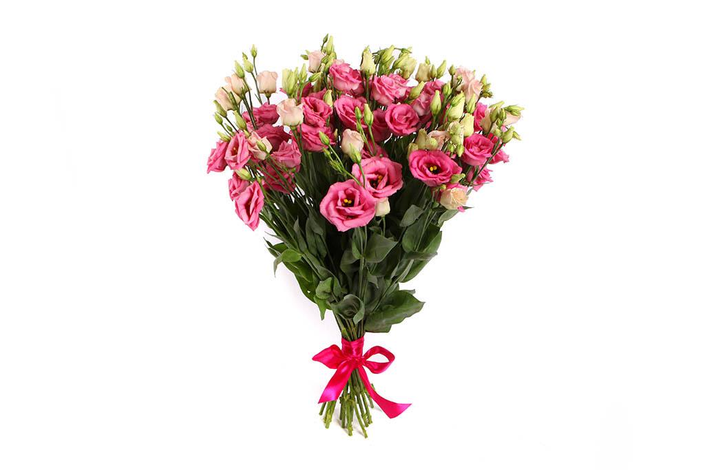 Букет из 11 малиново-розовых эустом