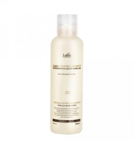 Безсульфатный органический шампунь с эфирными маслами Lador Triple x3 Natural Shampoo 150 мл