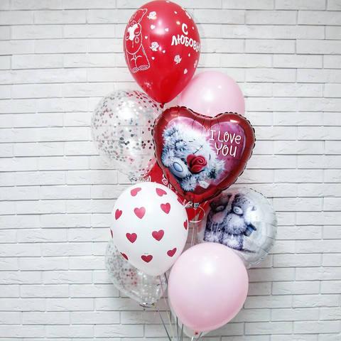 шары на 14 февраля, шары сердца