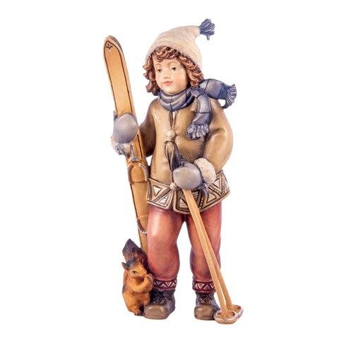 Девочка с лыжами