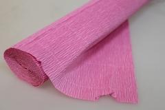 Бумага гофрированная простая розовый (554), 50 см./250 см.