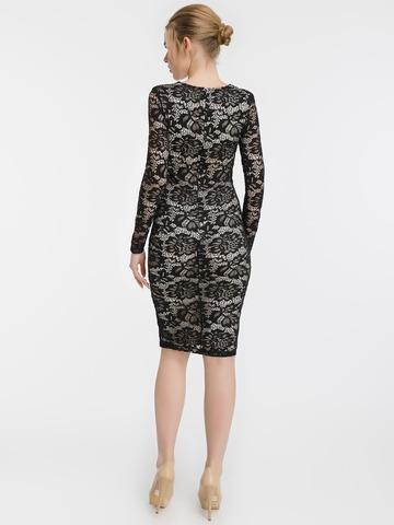 Кружевное платье миди, черное 2