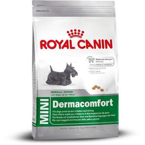 Royal Canin Mini Dermacomfort сухой корм для собак мелких пород с чувствительностью кожи 1 кг