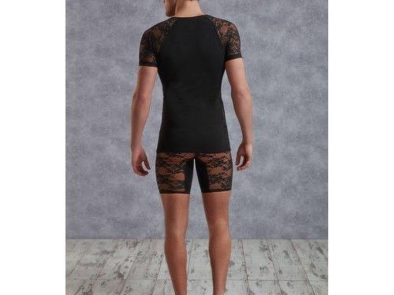 Мужская футболка черная с кружевными вставками Doreanse 2552
