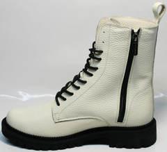 Белые ботинки женские зимние Ari Andano 740 Milk Black.