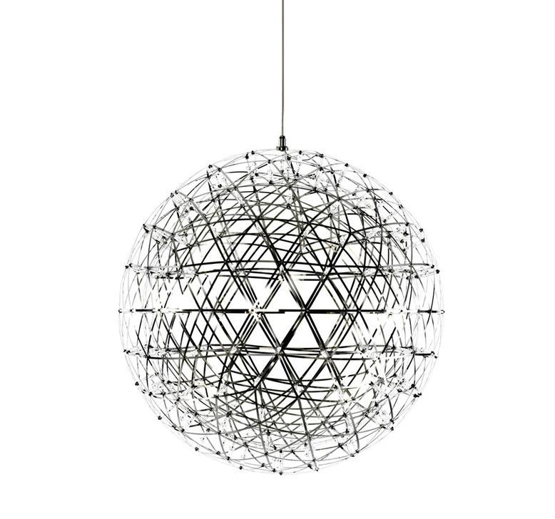 Подвесной светильник копия Raimond by Moooi (серебряный, D 61 cm)