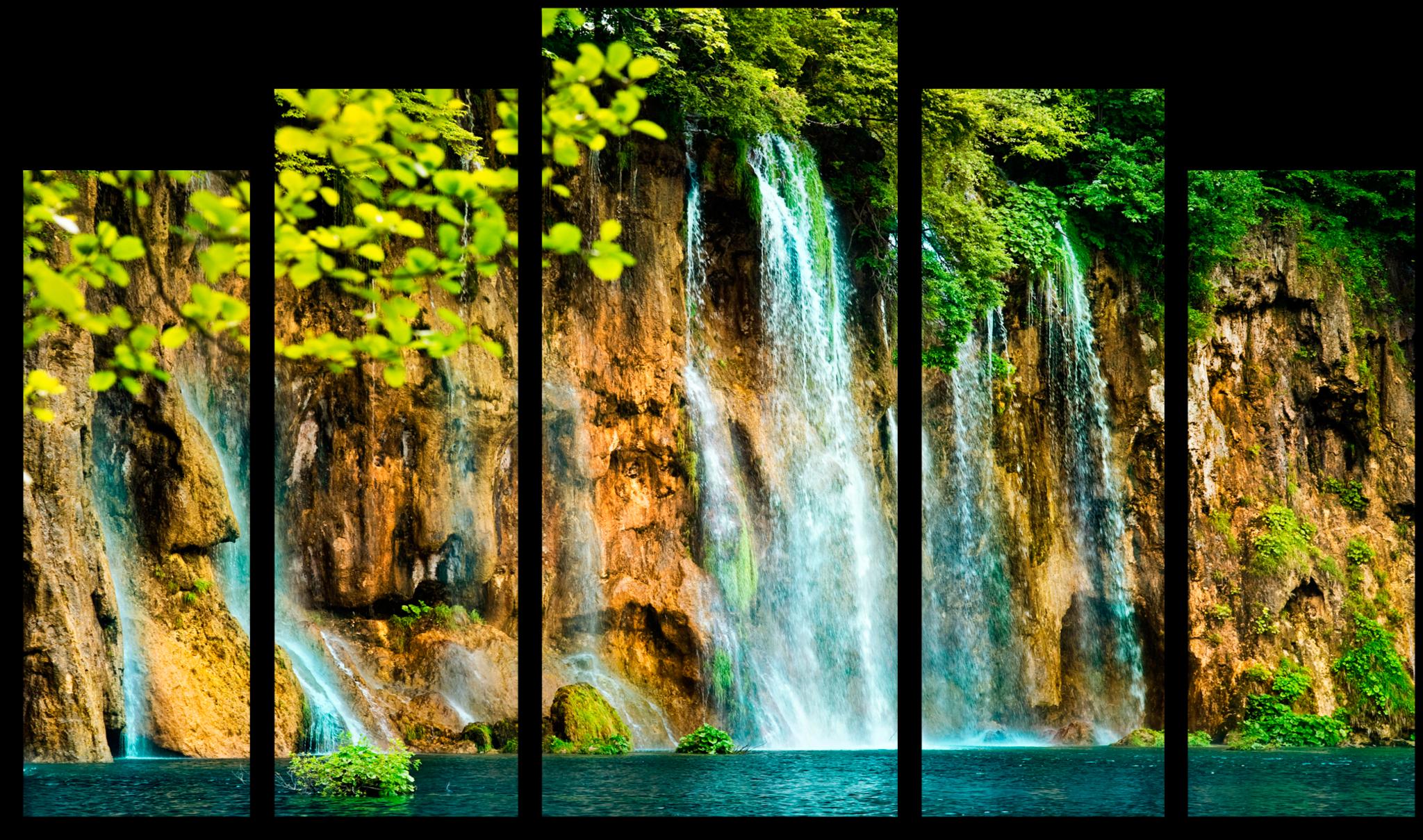 """Модульные картины Модульная картина """"Горный водопад"""" М93.png"""
