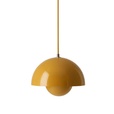 Подвесной светильник копия Flowerpot by Verpan Panton (желтый)