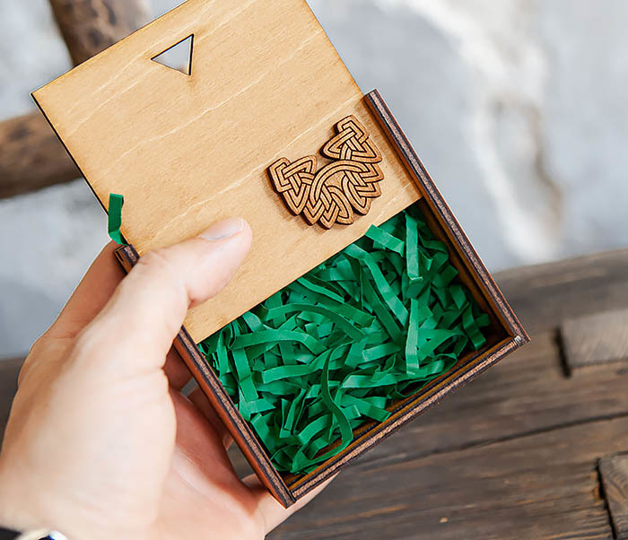 BOX232-2 Деревянная подарочная коробка для браслета (9,5*9,5*3,5 см) фото 03