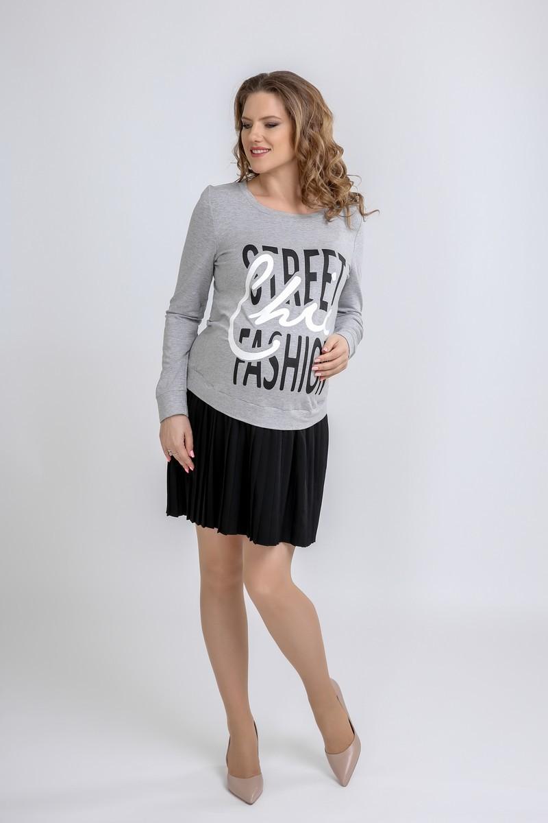 Фото платье для беременных GEMKO от магазина СкороМама, серый, размеры.