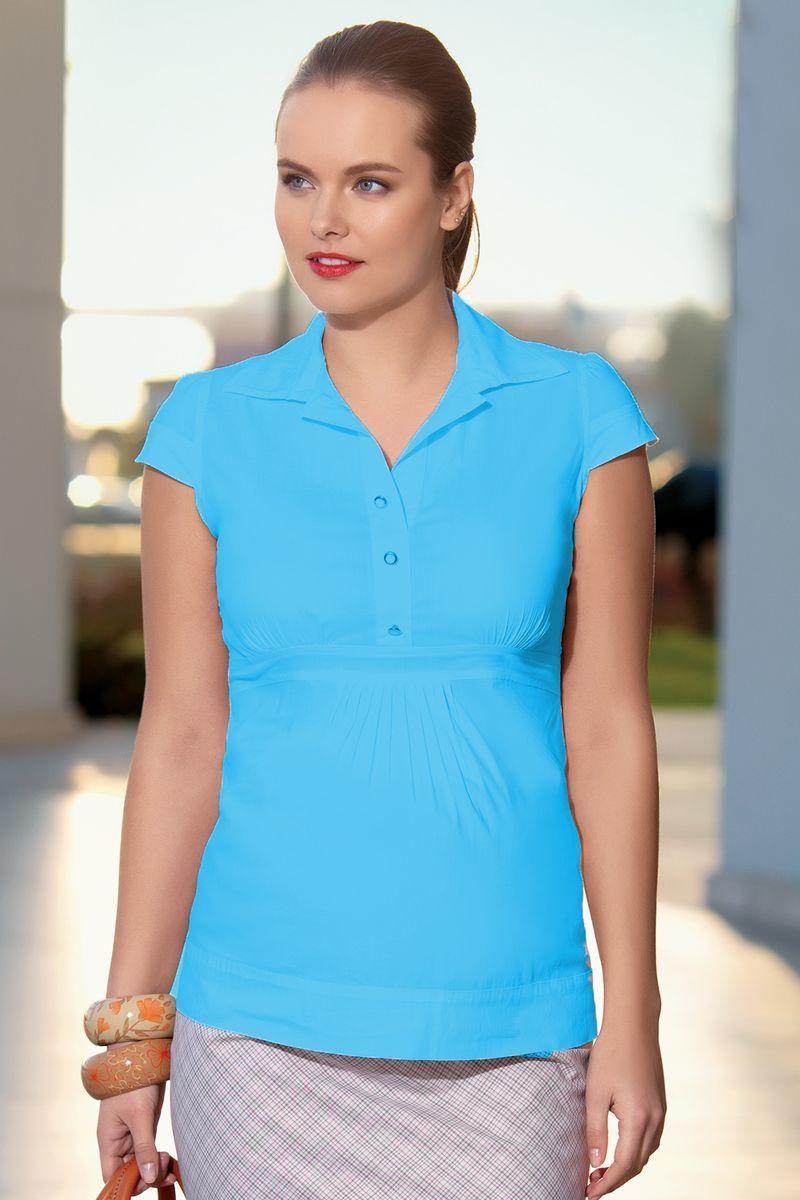 Рубашка для беременных 01314 бирюзовый