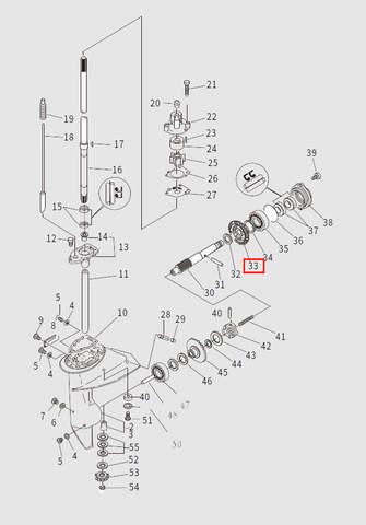 Шестерня заднего хода для лодочного мотора T9.8 Sea-PRO (13-33)