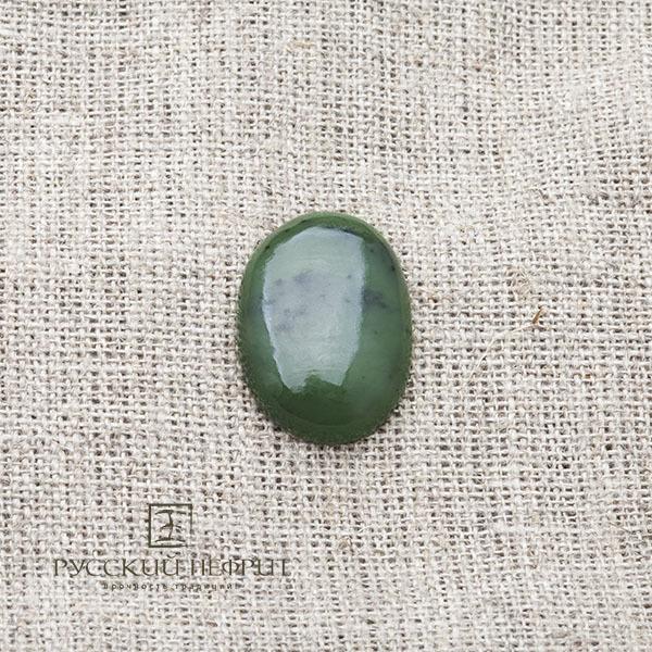 Вставки Кабошон овальный 23,5 х 17мм. Зелёный нефрит (класс моде). kabashon23_5x17.jpg