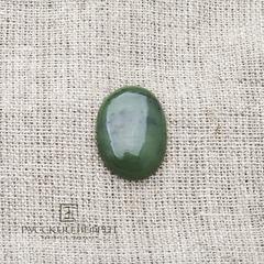 Кабошон овальный 23,5 х 17мм. Зелёный нефрит (класс моде).