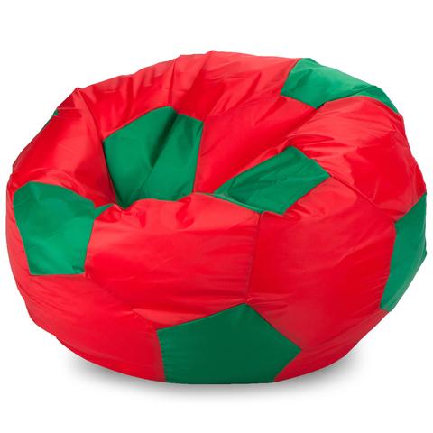 Бескаркасное кресло «Мяч» XL, Красный и зеленый