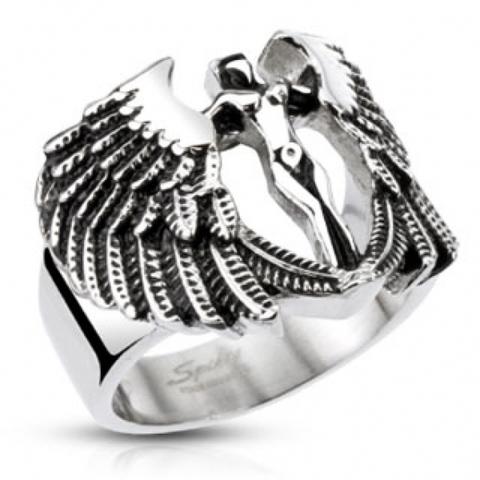 Изящный недорогой защитный перстень печатка