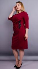 Тейлор. Красивое женское платье больших размеров. Бордо.