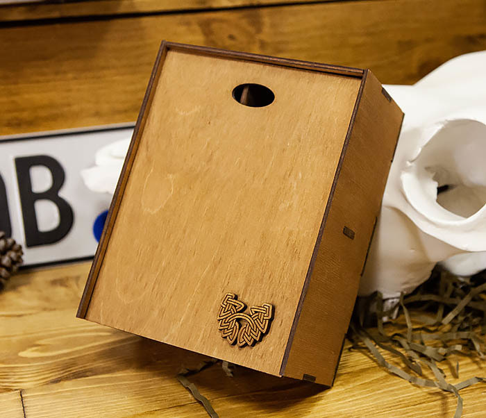 BOX245-2 Подарочная коробка из дерева с тремя отделениями внутри, А6 (19*15*8,5 см) фото 07